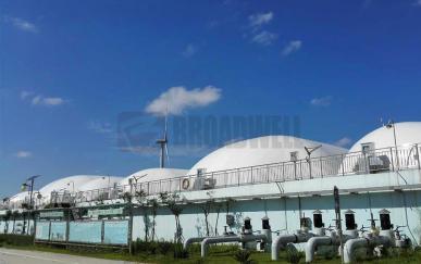 江苏省盐城市污水处理气膜池