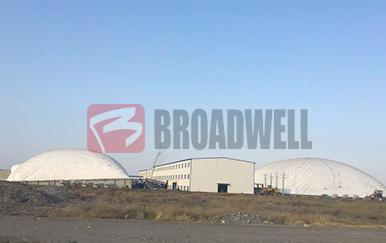 新疆天电玛纳斯电厂气膜煤仓