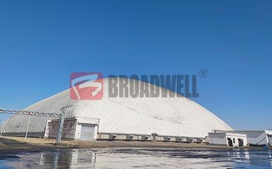 新疆天电奇台能源有限公司气膜煤场封闭