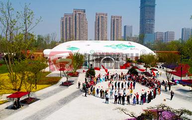 """扬州""""烟花三月""""国际经贸旅游节气膜式主会场"""