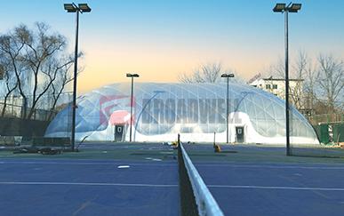 山西太原骏驰青年宫气膜网球馆(全国首个全透明气膜体育馆)