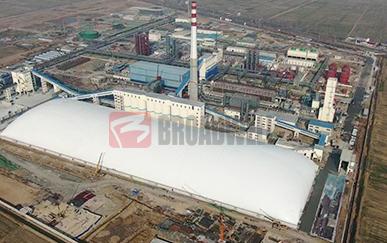 济宁煤化气膜封闭式煤场工程