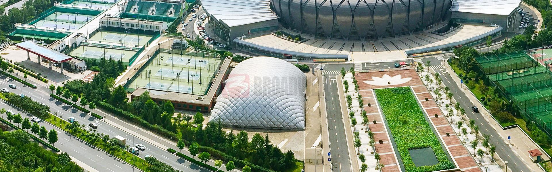 中国第一个室内气膜游泳馆——济南奥体中心气膜游泳馆