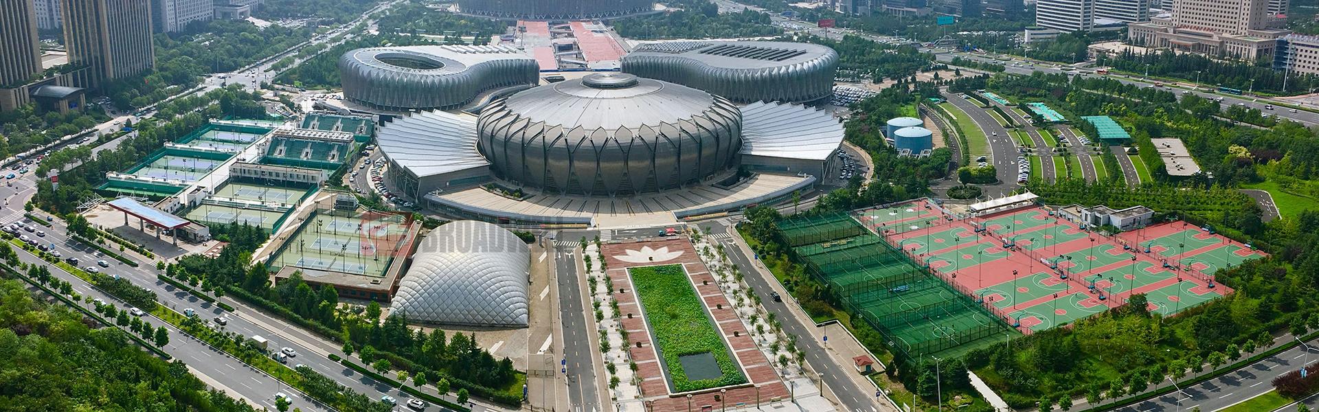 中国第一个室内充气膜游泳馆——济南奥体中心充气膜游泳馆