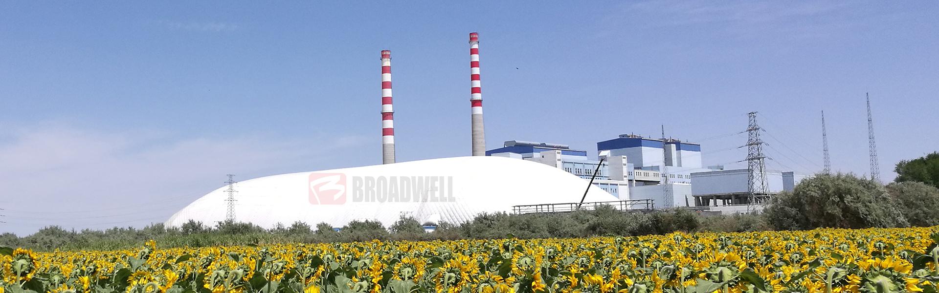 新型环保智能充气膜煤仓——新疆蓝山屯河数字化充气膜煤仓