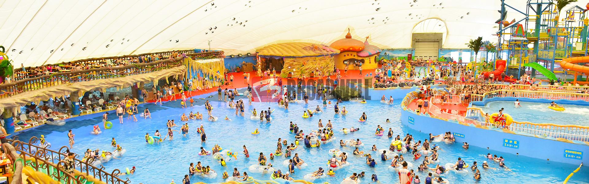世界最大充气膜水上乐园——新疆神木园充气膜水上乐园